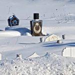 Kars'ta bir mezar taşı